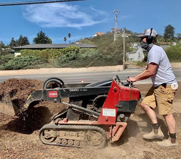Prepping the soil